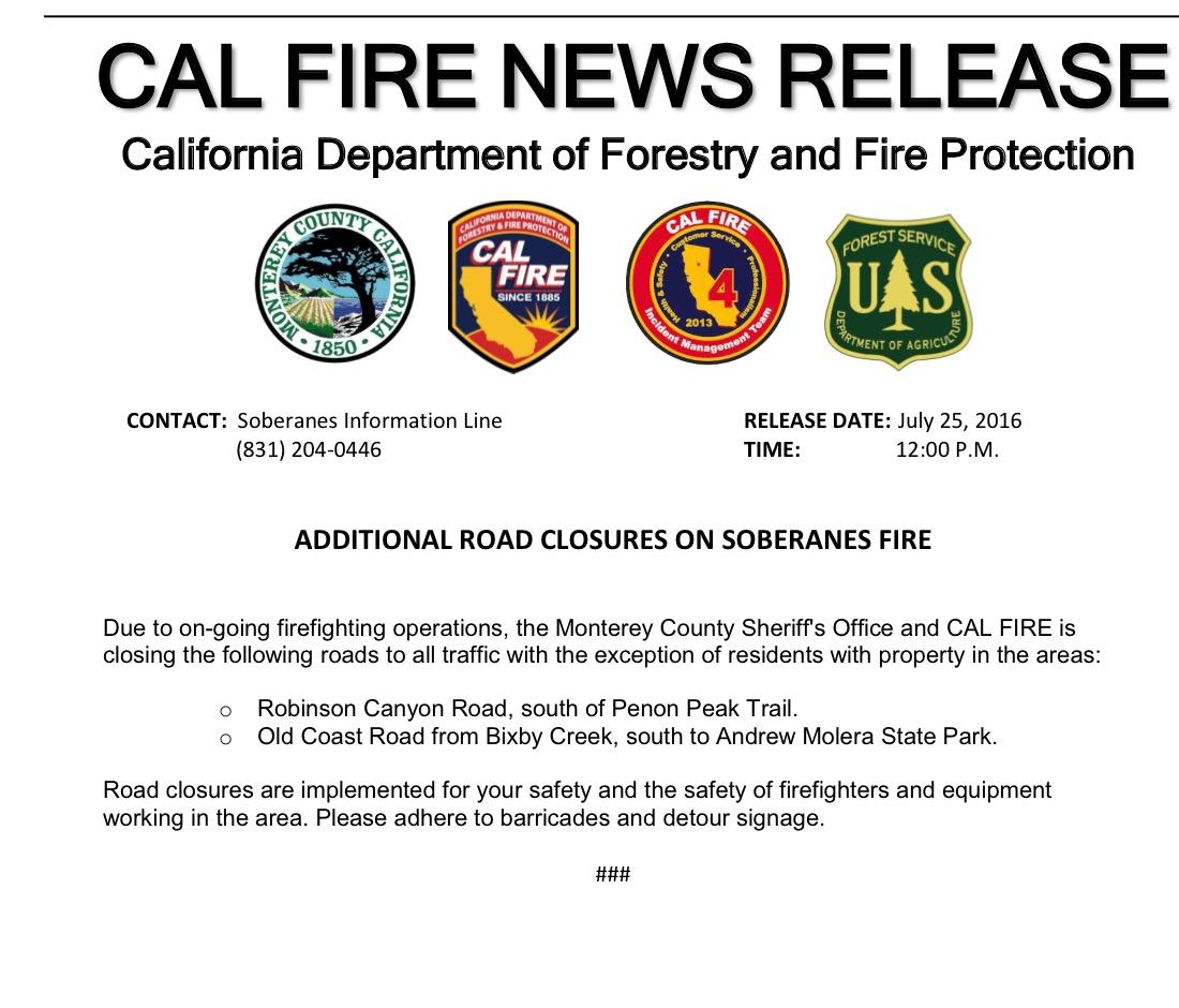 soberanes fire day 4 7 25 16 u2013 official reports u0026 maps bigsurkate