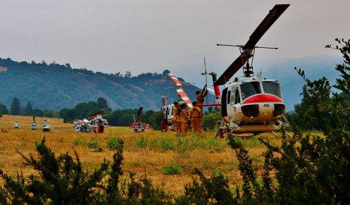 Soberanes Fire Helibase, Carmel Valley