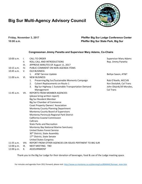 BSMAAC Meeting 11317 Agenda draft minutes from August 11 2017 – Draft Meeting Agenda