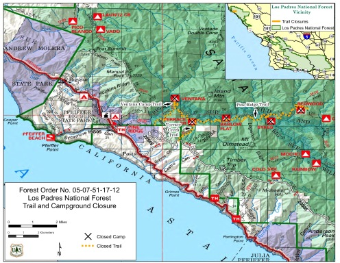 Big Sur Interactive Highway Maps With Slide Names Mile Markers